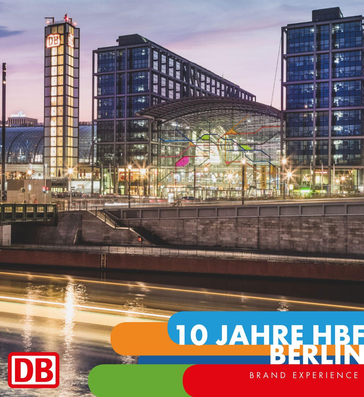 Deutsche bahn - 10 Jahre Hauptbahnhof Berlin Hero
